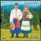 Ukrainian Couple in Traditional Costumes