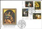 № 1123-1126 FDC1 - Art: Paintings from the Heritage of the National Museum of Fine Arts of Moldova 2019