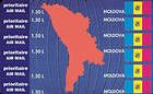 № 139-144 SC - «Map of Moldova» Airmail Stamps Cards 1994