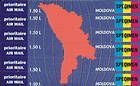 № 139P-144P SC - Map and Flag of Moldova