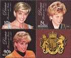 № 282+286+283Zd - Diana. Princess of Wales - In Memoriam 1998