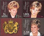 № 286+284+285Zd - Diana. Princess of Wales - In Memoriam 1998
