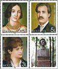 № 345+349+348Zd - 150th Birth Anniversary of Mihai Eminescu 2000