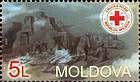 № 468 (5.00 Lei) The Scene of an Emergency and the Emblem of the Red Cross Society of Moldova
