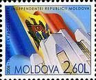 The Flag of Moldova and the Presidential Building