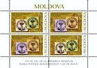 № 613-614 Hb - 150th Anniversary of the «Cap de Bour» Stamps of the Moldavian Principality 2008