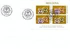 № 613-614 Hb FDC - 150th Anniversary of the «Cap de Bour» Stamps of the Moldavian Principality 2008