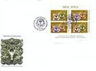 № 613-614 Hb FDC-F - 150th Anniversary of the «Cap de Bour» Stamps of the Moldavian Principality 2008