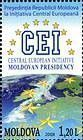 Map of Western Europe, Stars and the Emblem of the CEI