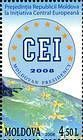 Map of Eastern Europe, Stars and the Emblem of the CEI