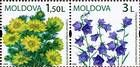№ 656-657Zd - Wild Flowers of Moldova 2009