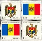 № 717Ss-718SsZd5 - 20th Anniversary of the Adoption of the State Flag and Arms of the Republic of Moldova 2010