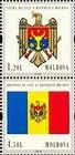 № 717Ss+718SsZdV - 20th Anniversary of the Adoption of the State Flag and Arms of the Republic of Moldova 2010