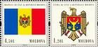 № 718Ss+717SsZdH - 20th Anniversary of the Adoption of the State Flag and Arms of the Republic of Moldova 2010