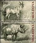 № 723+725Zd - Extinct Fauna of Moldova 2010
