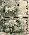 № 723+725Zd - Extinct Fauna of Moldova 2010