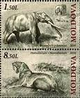 № 724+726Zd - Extinct Fauna of Moldova 2010