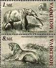 № 724+726Zd - Extinct Fauna of Moldova 2010