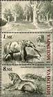 № 724+726ZdZf - Extinct Fauna of Moldova 2010