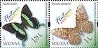 № 839+838ZdH - Butterflies and Moths (III) 2013