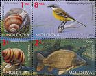 № 883-888 Zd4 - Fauna of Moldova 2014