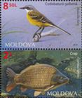№ 886+888 Zd - Fauna of Moldova 2014