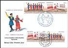 № 928-929 FDC2 - Folk Dances (III) - Joint Issue with Azerbaijan 2015