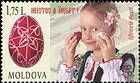 № 998 (1.75 Lei) Little Girl and Decorated Easter Eggs